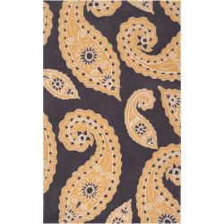 angelo:HOME Hand-Tufted Abstract Yellow Hudson Park Polyester Rug (2' x 3')
