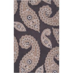 angelo:HOME Hand-tufted Grey Hudson Park Polyester Rug (5' x 7'6)
