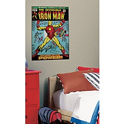 RoomMates Iron Man Peel and Stick Comic Book Cover