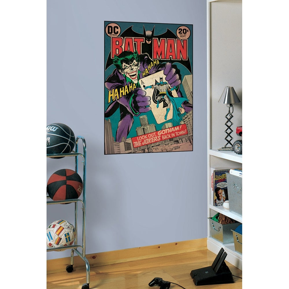 RoomMates Batman/ Joker Issue Peel and Stick Comic Book Cover Decal