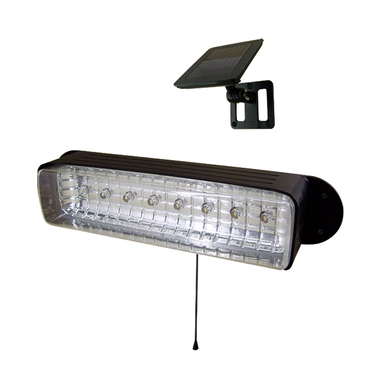 String Lights Garage : Solar Powered Wall Garage Shed Light 8-LED - 14258404 - Overstock.com Shopping - Great Deals on ...