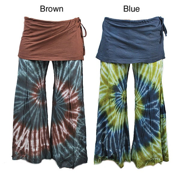 Tie Dye Pants With Attached Skirt (Nepal)