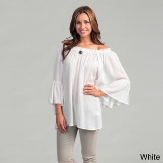 Elan Women's Flutter Sleeve Top