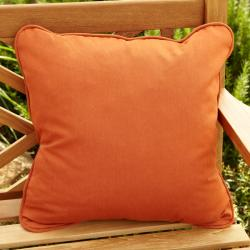 Clara Rust 22-inch Square Outdoor Sunbrella Pillow (Set of 2)