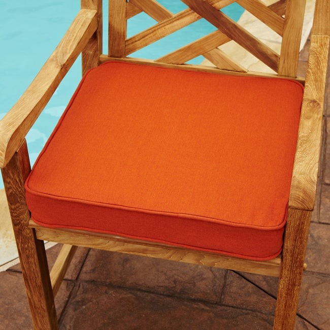 clara rust indoor outdoor 19 inch square sunbrella chair cushion