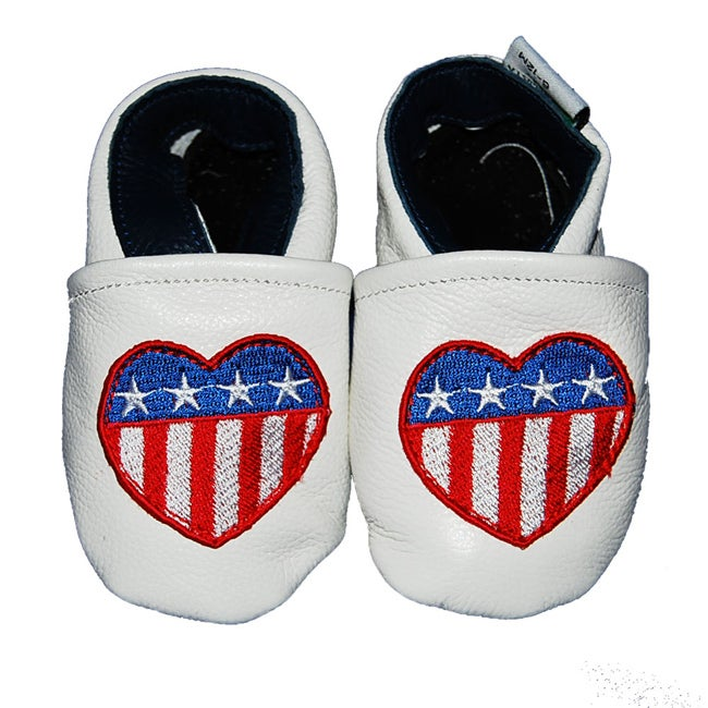 American Heart Soft Sole Leather Baby Shoes