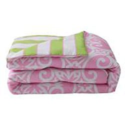 VCNY Kendall 11-piece Pink/ Green Dorm Room in a Bag with Sheet Set