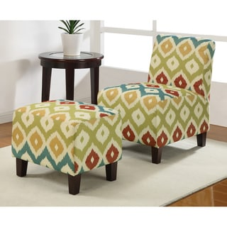 Duo Calypso Armless Chair and Ottoman Set