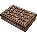 Hand-Crafted Embossed Wood Keepsake/Jewelry Box (India)