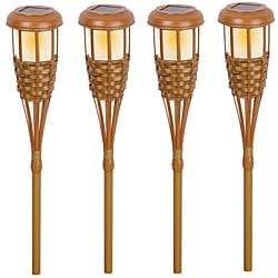 Paradise Garden Solar Power Bamboo Torch Light