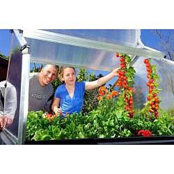 Palram Plant Inn 4' x 4' Urban Vegetable Garden Greenhouse