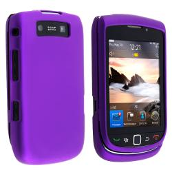 BasAcc Purple Snap-on Rubber Coated Case for Blackberry Torch 9800
