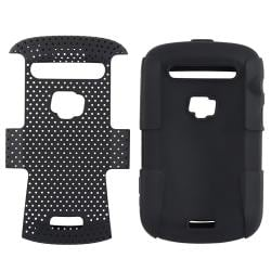 BasAcc Black/ Black Hybrid Case for BlackBerry Bold 9900/ 9930