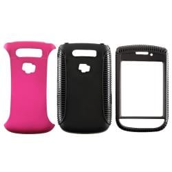 BasAcc Black TPU/ Pink Hybrid Case for BlackBerry Torch 9800/ 9810