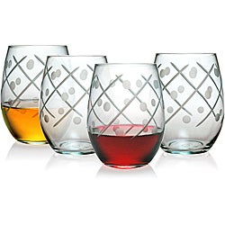 Twist Collection Stemless Wine Glasses (Set of 4)