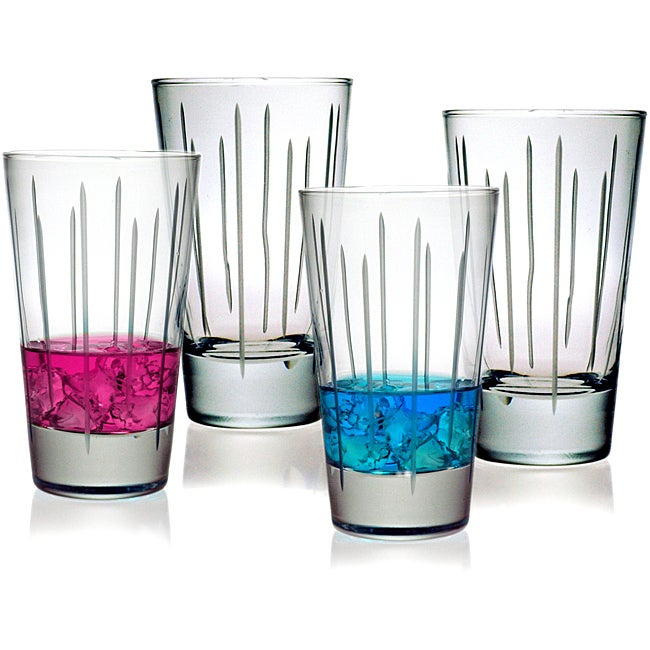 Ribbons Collection Hiball Glasses (Set of 4)