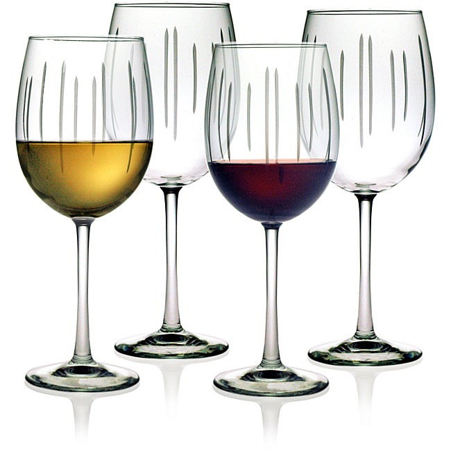 Susquehanna Glass Ribbons Collection Wine Glasses (Set of 4)