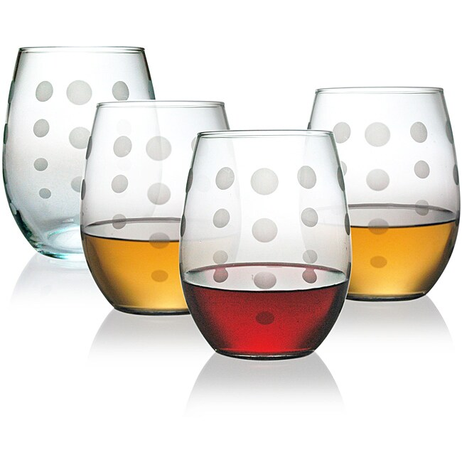 Pearls Collection Stemless Wine Glass (Set of 4)