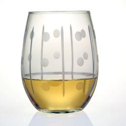 Domino Collection Stemless Wine Glasses (Set of 4)