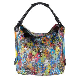 Journee Collection Women's Multi-color Weaved Tote Bag