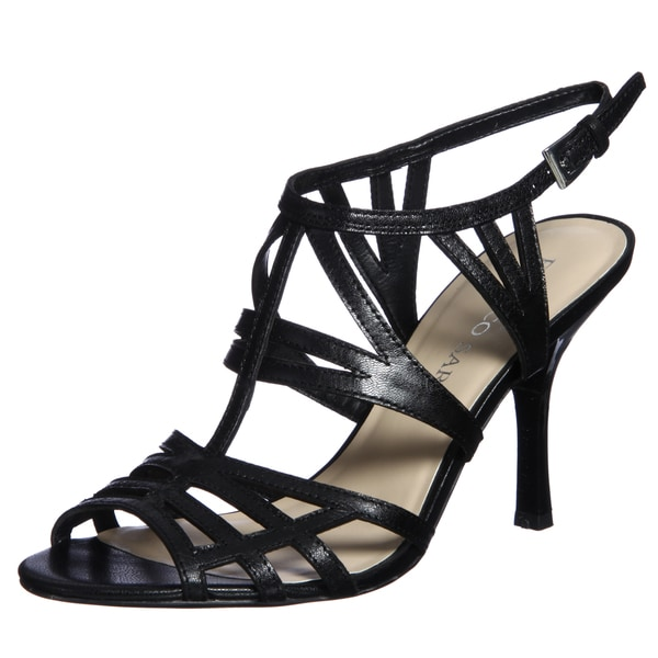 Franco Sarto Women's 'Lia' Multi-strap Leather Heels