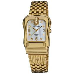 Akribos XXIV Women's Gold-Tone Quartz Buckle Bracelet Watch