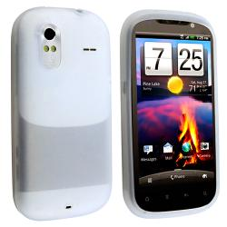 BasAcc Clear White Silicone Skin Case for HTC Amaze 4G