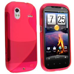 BasAcc Frost Hot Pink S Shape TPU Rubber Skin Case for HTC Amaze 4G