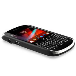 BasAcc Black Rubber Coated Case for Blackberry Bold 9900/ 9930