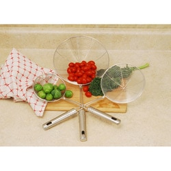 3-piece Stainless Steel Wire Strainer Set