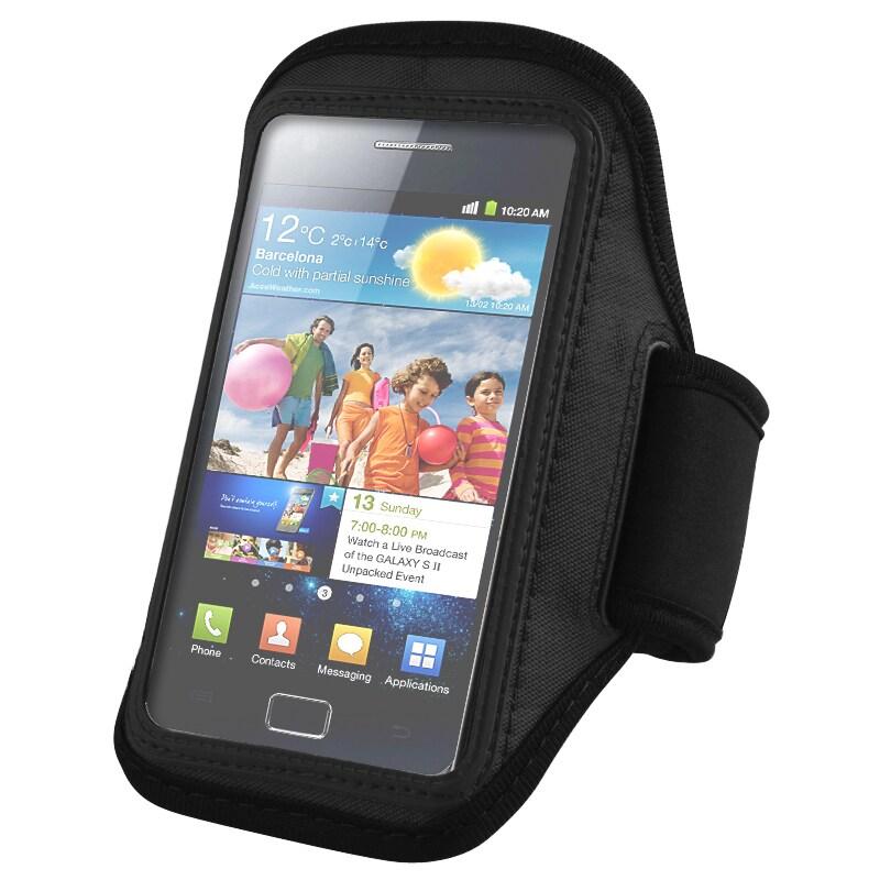 INSTEN Black Armband for Samsung Galaxy S II i9100