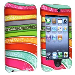 Colorful Stripes Snap-On Rubber-Coated Case for Apple iPod Touch Generation 2/ 3