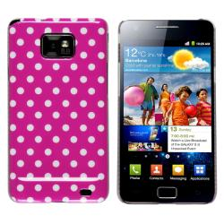 Hot Pink/ White Dot Snap-on Case for Samsung Galaxy S II i9100