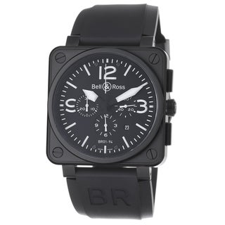 Bell & Ross Men's 'Avation' Black Dial Chronograph Automatic Watch