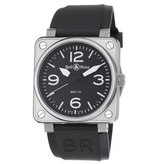 Bell & Ross Men's 'Avation' Black Dial Black Strap Automatic Watch