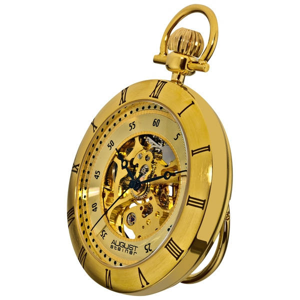 August Steiner Men's Mechanical Movement Pocket Watch