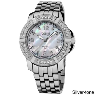 Burgi Women's Stainless-Steel Diamond Bracelet Swiss-Quartz Watch