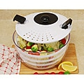 White 4.5-quart Salad Spinner