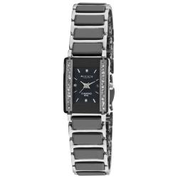 Akribos XXIV Women's Rectangular Ceramic Quartz Bracelet Watch