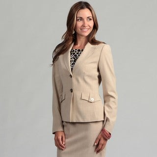 Calvin Klein Women's Sand 2-button Jacket