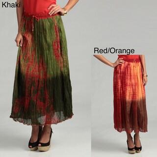 Tokyo Collection Women's Tye Die Cotton Sequin Skirt
