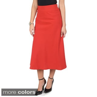 Journee Collection Women's A-line High Waist Banded Skirt