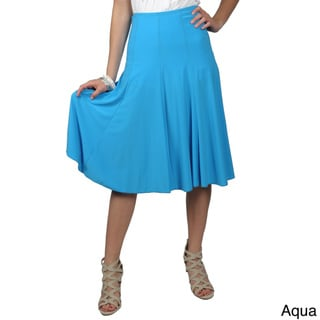 Journee Collection Women's Missy-Fit Flowing Knit Flare Skirt