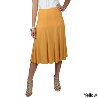 Journee Collection Women's Unlined Flowing Knit Flare Skirt