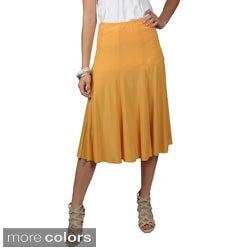 Journee Collection Women's Flowing Knit Flare Skirt