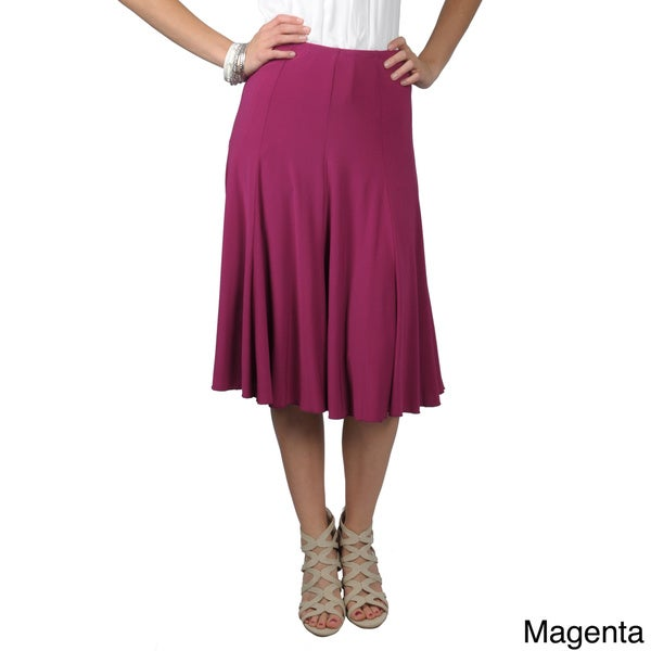Journee Collection Women's Flowing Flare Skirt