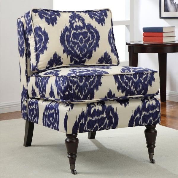 Cassidy Indigo Ikat Armless Chair