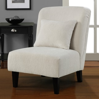Anna Sculptured Snow Accent Chair