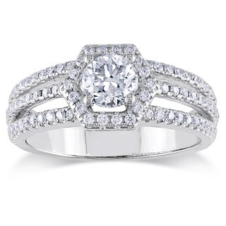 Miadora 14K White Gold 1 CT TDW Diamond Engagement Ring (G-H, SI1-SI2)