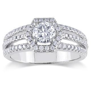 Miadora 14K White Gold 1 CT TDW Diamond Engagement Ring (G-H, SI1-SI2)